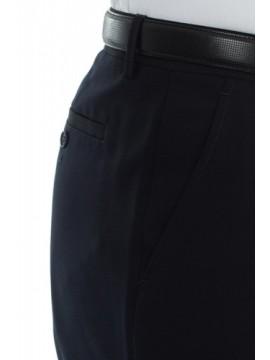 Pantalón vestir lana azul marino talla 40