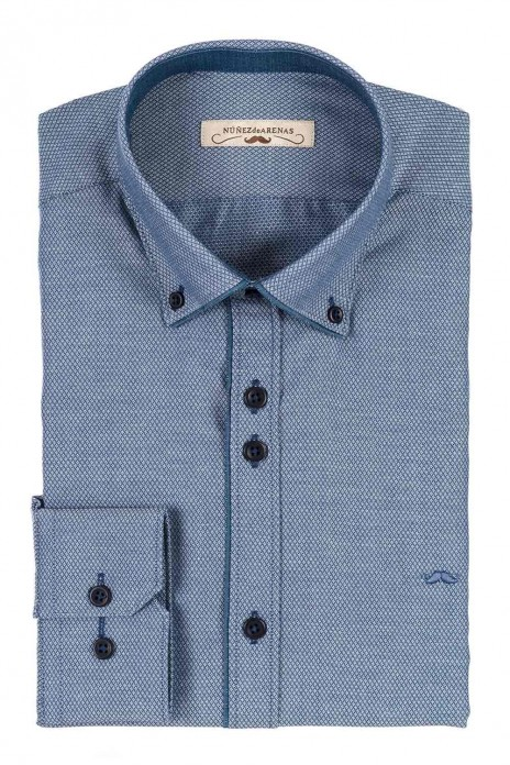 CAMISA JACQUARD REGULAR FIT