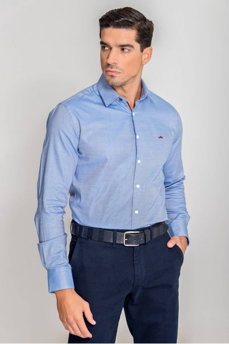 CAMISA FALSO LISO - BLUE