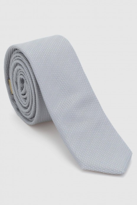 CORBATA FALSO LISO - GREY