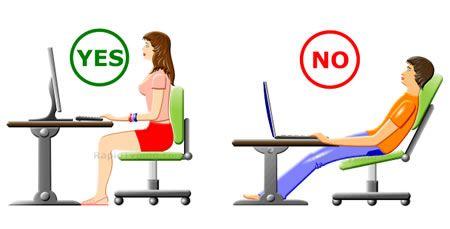 postura correcta silla trabajo escritorio nuñez de arenas