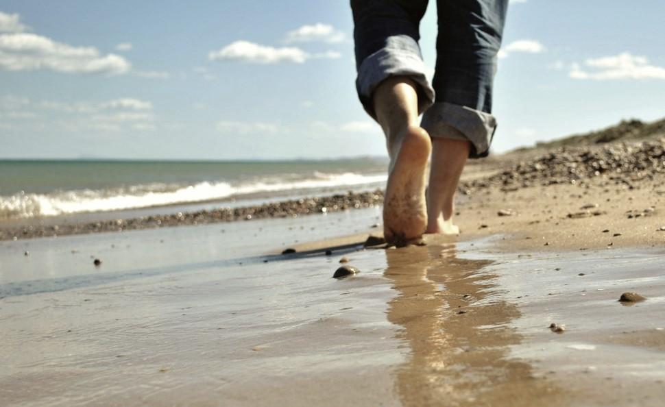 caminar playa powerwalking