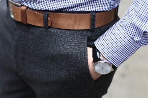 cinturon marron hombre