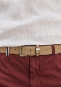 elegir cinturon hombre azul
