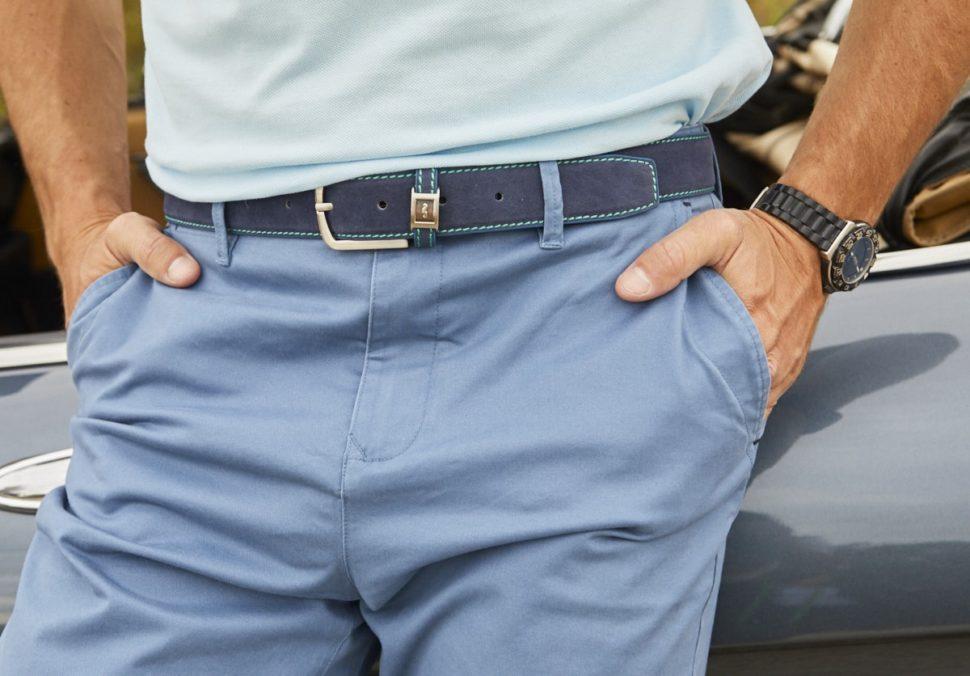 elegir cinturon hombre verde