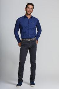 look navidad camisa azul